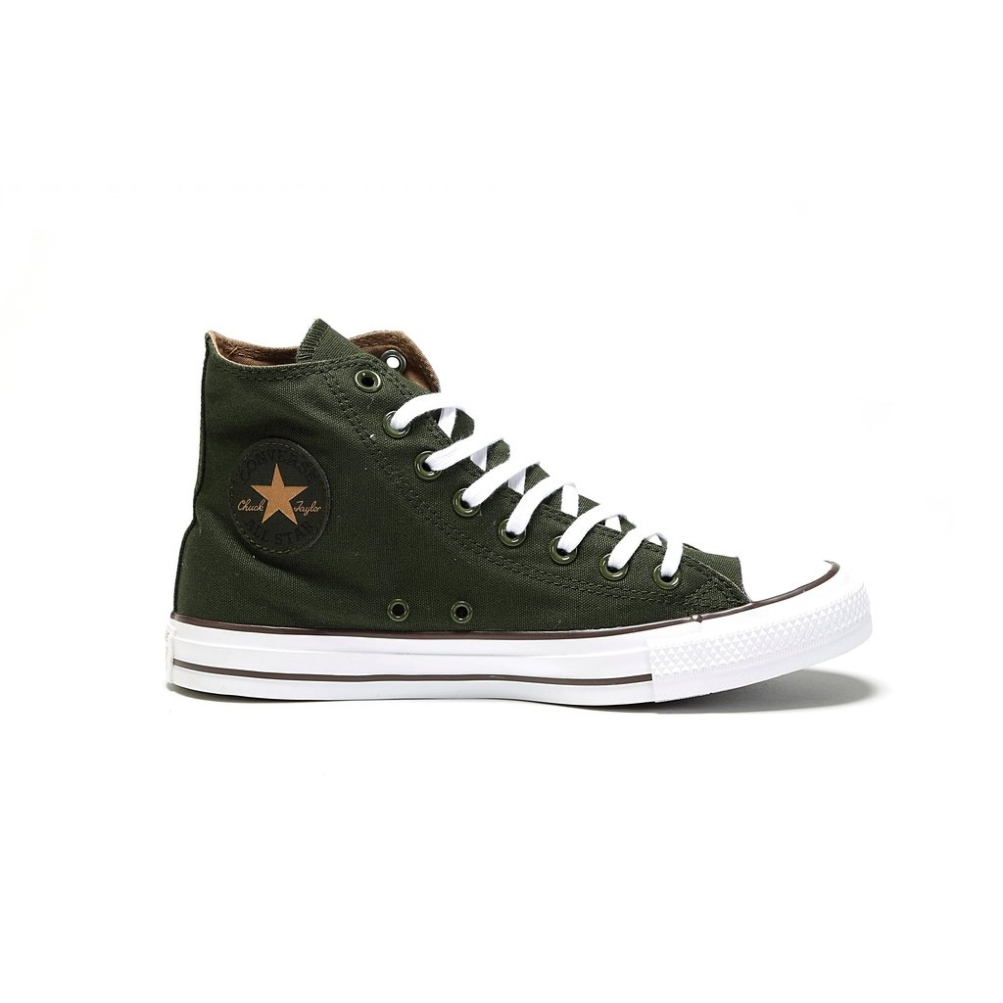 4c74b8924d0 Venue Store CONVERSE Chuck Taylor All Star Hi Shoe - Utility Green Teak  White Free Delivery Over  100