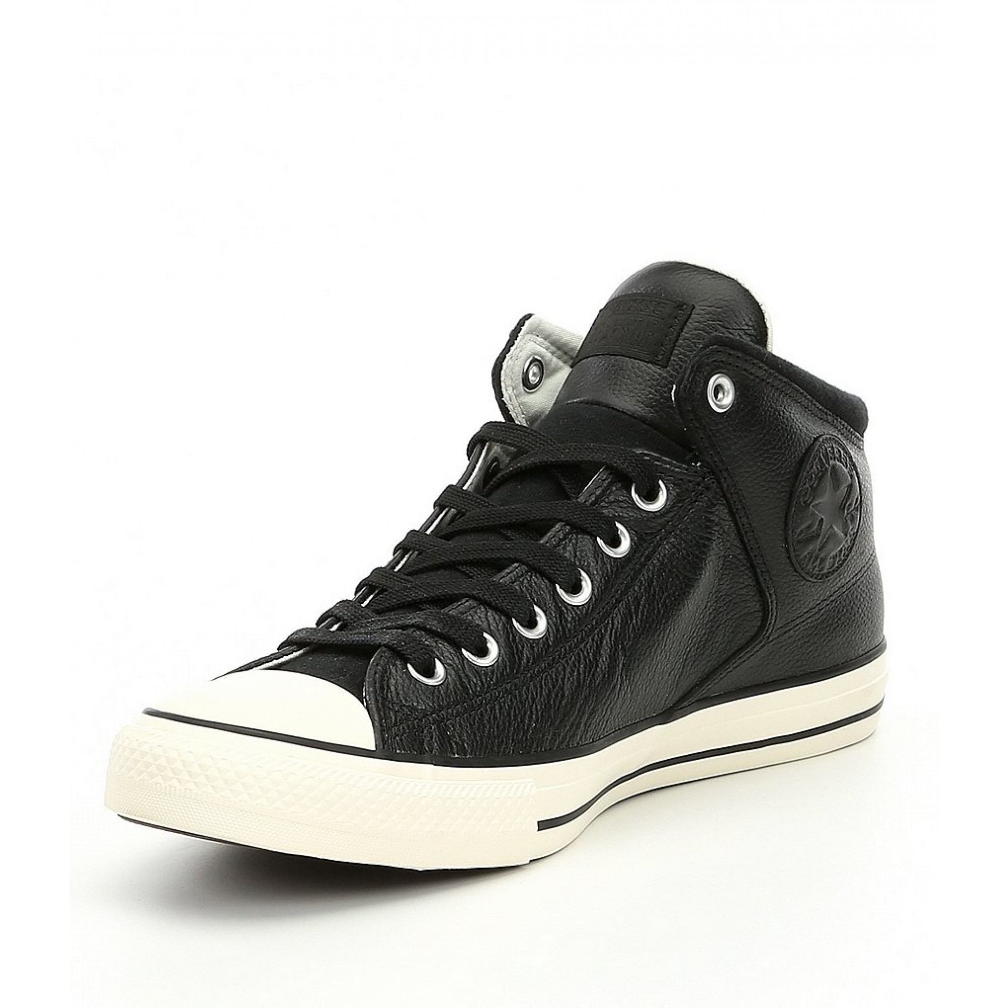 Venue Store CONVERSE Chuck Taylor All Star High Street Leather Hi Shoe -  Black Black Egret Wanted Streetwear Free Delivery Over  100 7773adae0