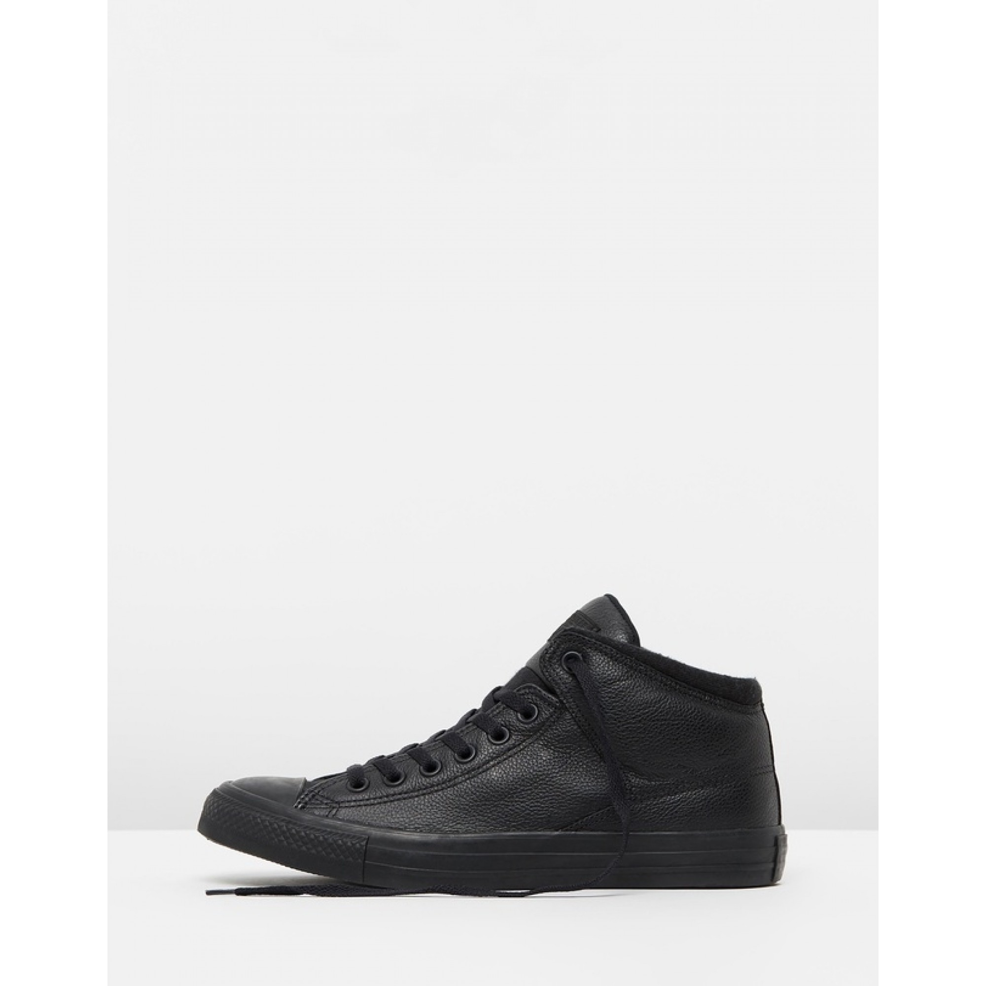 Venue Store CONVERSE Chuck Taylor All Star High Street Post Game Leather Hi  Shoe - Black Black Black Wanted Streetwear Free Delivery Over  100 e5d15bf9b
