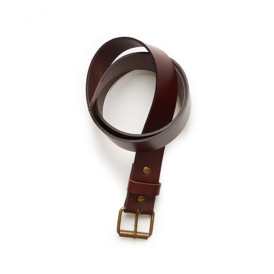 AS COLOUR Leather Belt - Brown