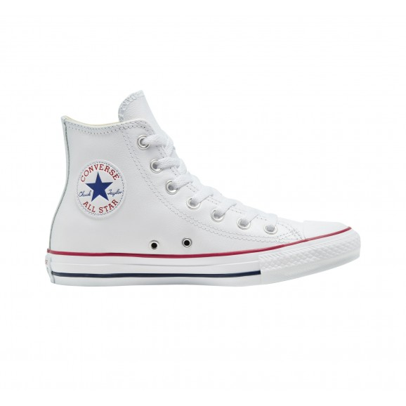 CONVERSE Chuck Taylor All Star Leather Hi Shoe - White