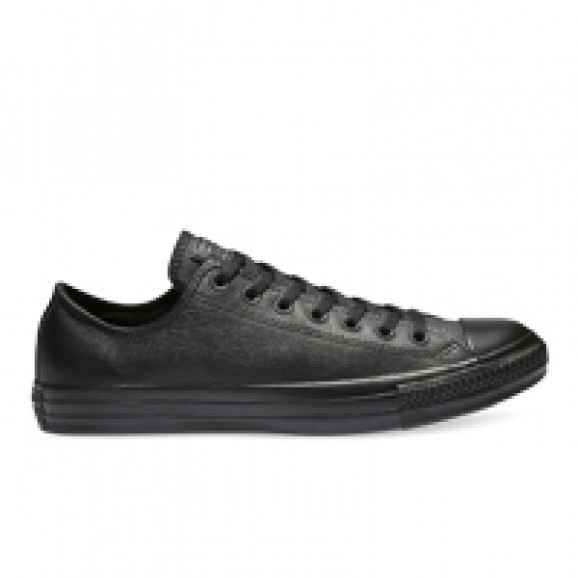 CONVERSE Chuck Taylor All Star Leather Low Shoe - Black Mono