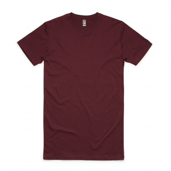 AS COLOUR Tall Mens Tee - Burgundy