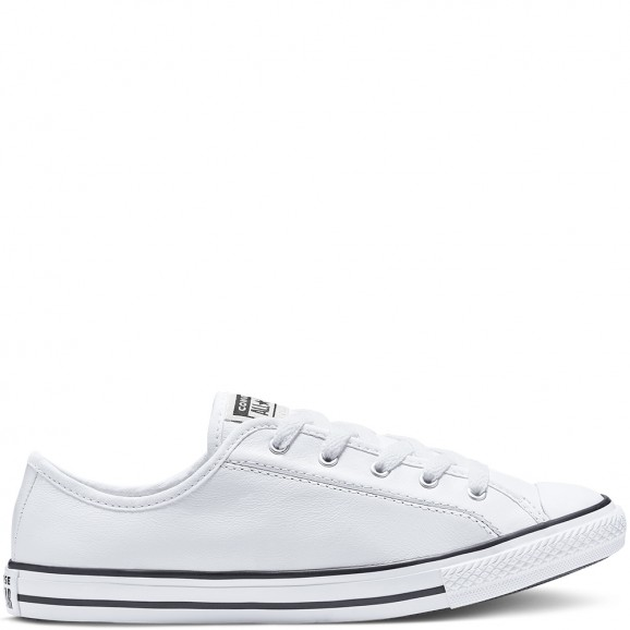 CONVERSE Chuck Taylor All Star Womens Leather Dainty Shoe - White