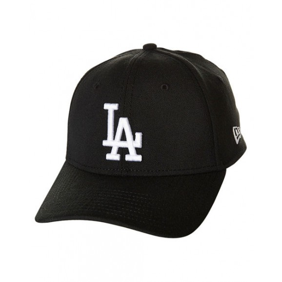 NEW ERA Los Angeles Dodgers 3930 Stretch Fit Cap - Black/White