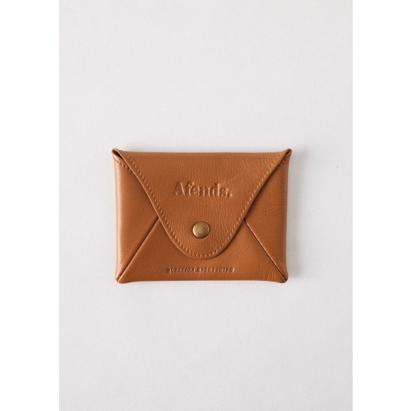 AFENDS Holdall Leather Pouch Wallet - Spice