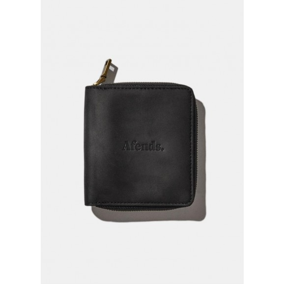 AFENDS Stash Leather Wallet - Black