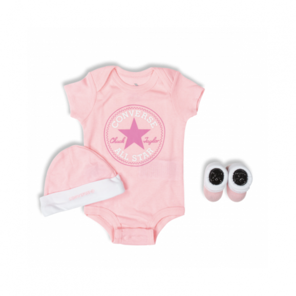 CONVERSE 3 Piece Boxed Gift Set - Pink/White