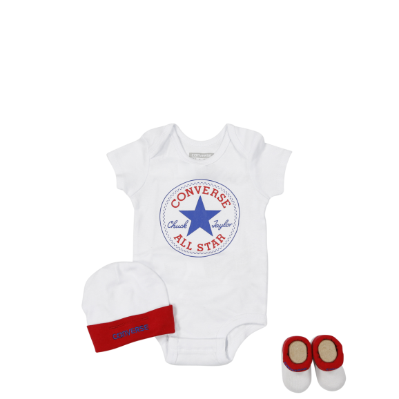 CONVERSE 3 Piece Boxed Gift Set - White/Red