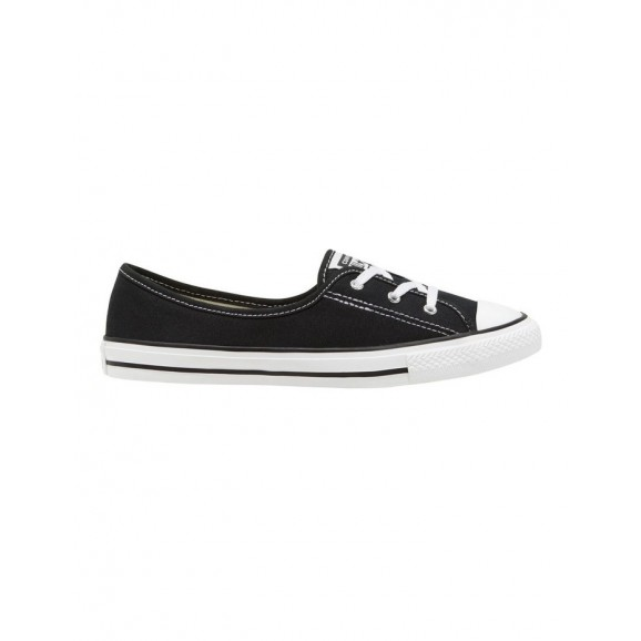CONVERSE Chuck Taylor All Star Womens Ballet Lace Shoe - Black/White/Black