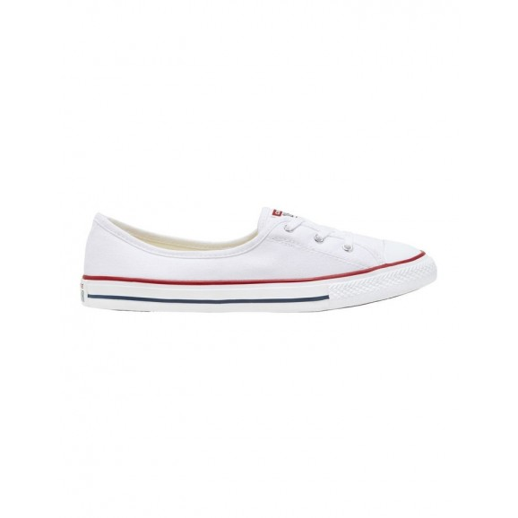 CONVERSE Chuck Taylor All Star Womens Ballet Lace Shoe - White/Garnet/Navy