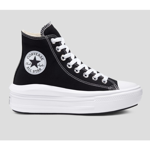 CONVERSE Chuck Taylor Move Womens Hi Shoe - Black/Natural Ivory/White