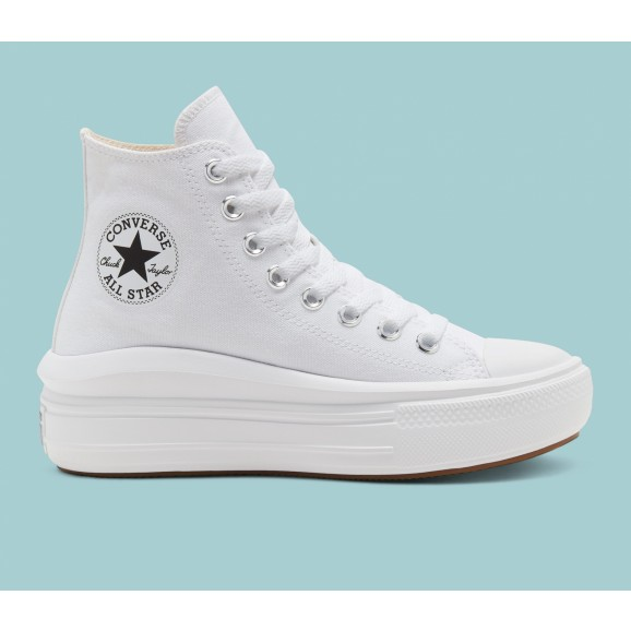 CONVERSE Chuck Taylor Move Womens Hi Shoe - White/Natural Ivory/Black