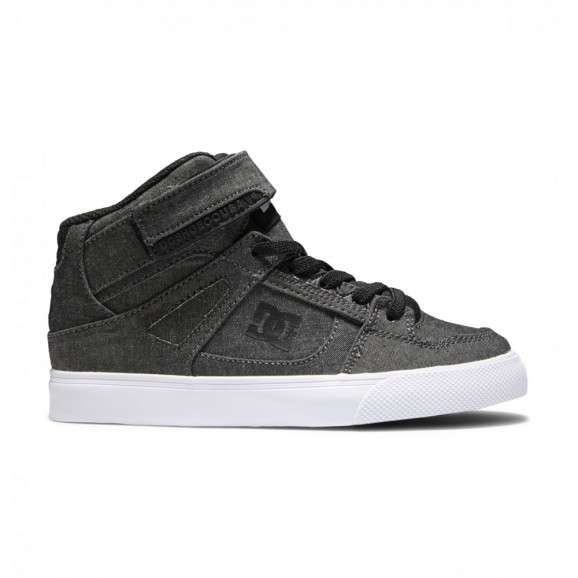 DC Pure High Top EV Youth Shoe - Chambray