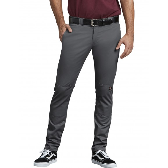 DICKIES 811 Skinny Straight Fit Double Knee Pants - Charcoal