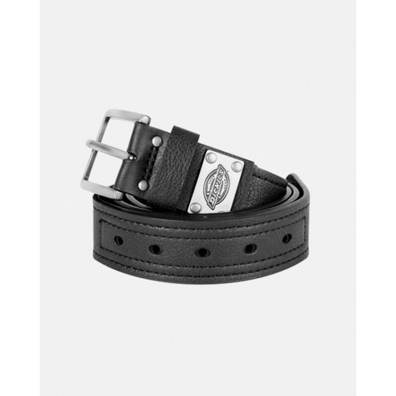 DICKIES Industrial Strength Leather Belt - Black