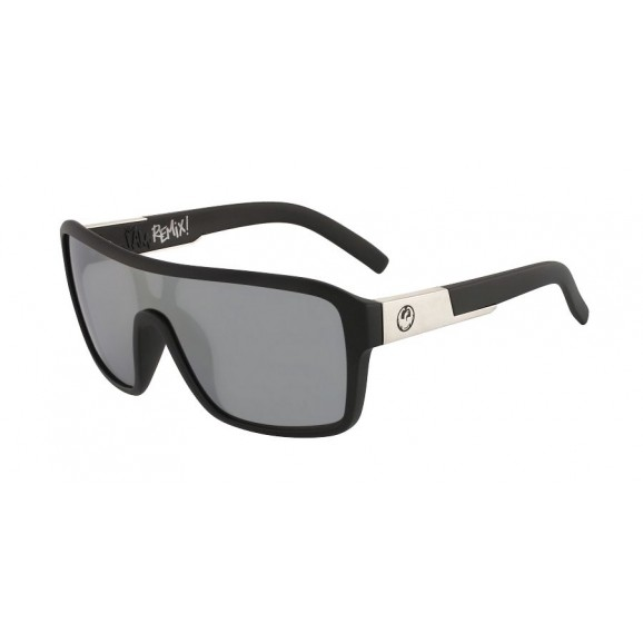DRAGON The Jam Remix Sunglasses - Matte Black/LL Silver Ion
