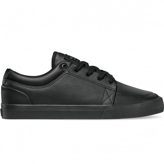 GLOBE GS Mens Leather Low Shoe - Black/Black