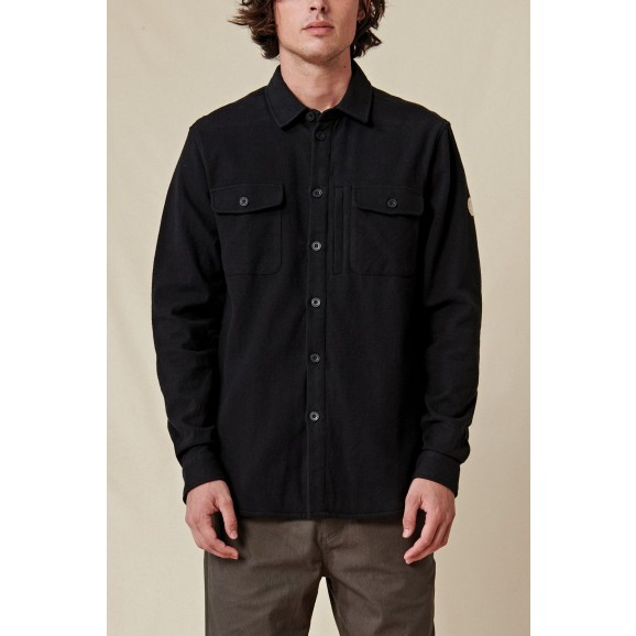 GLOBE Wanderer Mens Longsleeve Shacket - Black