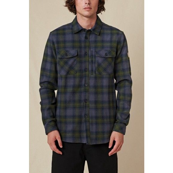 GLOBE Wanderer Mens Longsleeve Shacket - Navy