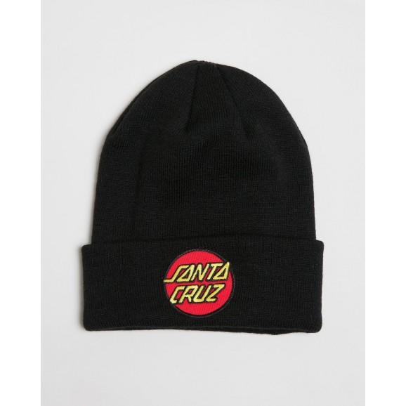 SANTA CRUZ Other Dot Mens Beanie - Black