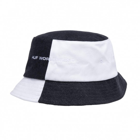 HUF Block Out Bucket Hat - Black/White