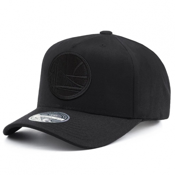 MITCHELL & NESS Golden State Warriors 110 Pinch Snapback Cap - Black/Black