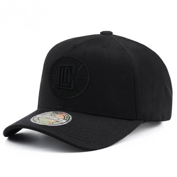 MITCHELL & NESS LA Clippers 110 Pinch Snapback Cap - Black/Black