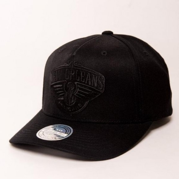 MITCHELL & NESS New Orleans Pelicans 110 Pinch Snapback Cap - Black/Black