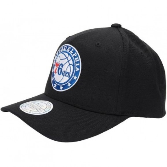 MITCHELL & NESS Philadelphia 76ers 110 Pinch Snapback Cap - Black/Team
