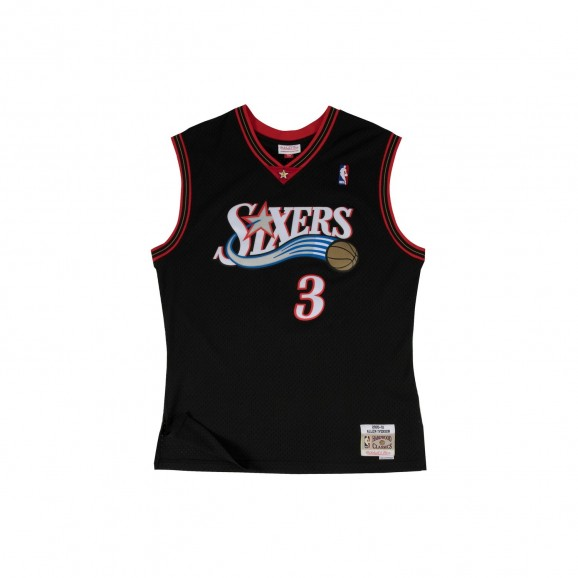 MITCHELL & NESS Philadelphia 76ers Iverson 3 NBA Swingman Mens Jersey - Black
