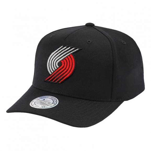 MITCHELL & NESS Portland Trailblazers 110 Pinch Snapback Cap - Black/Team
