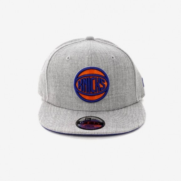 NEW ERA New York Knicks 950 Snapback Cap - Heather Grey