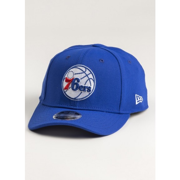 NEW ERA Philadelphia 76ers 950 Precurved Stretch Snapback Cap - Light Royal Blue