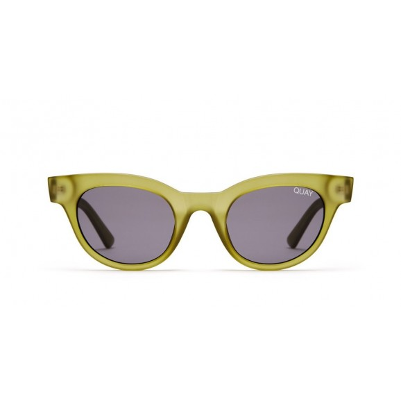 QUAY Star Struck Ladies Sunglasses - Olive/Smoke