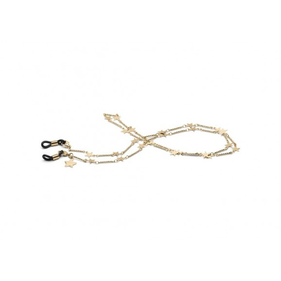 QUAY Star Sunnies Chain  - Gold/Black