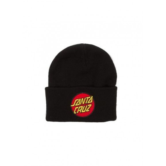 SANTA CRUZ Classic Patch Youth Beanie - Black