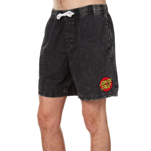 SANTA CRUZ Cruzier Mens Beach Short - Acid Black