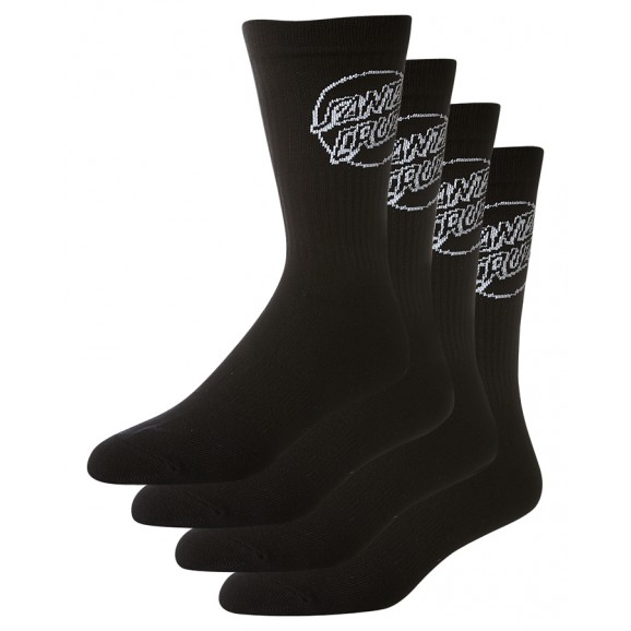 SANTA CRUZ Mono Cruz Mens 4pk Socks - Black