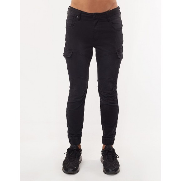 SILENT THEORY Nomad Cuffed Mens Pant - Black