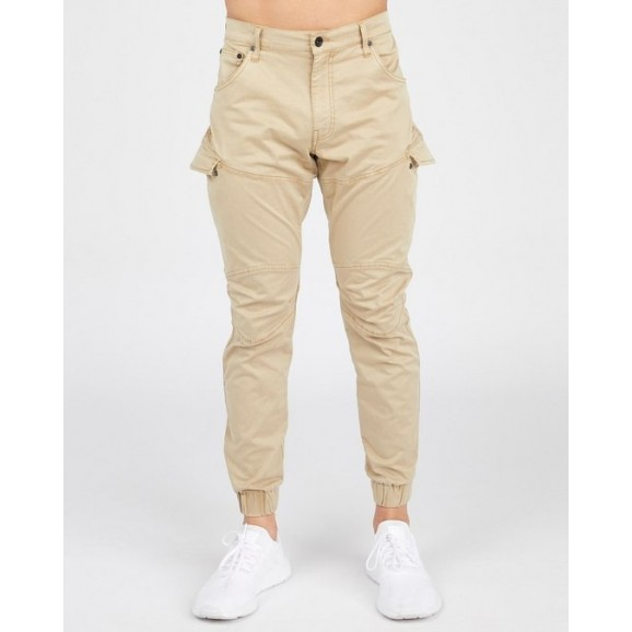 SILENT THEORY Nomad Cuffed Mens Pant - Tan