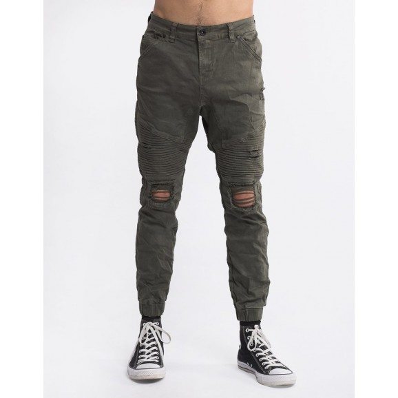 SILENT THEORY Outlaw Cuffed Mens Pant - Khaki