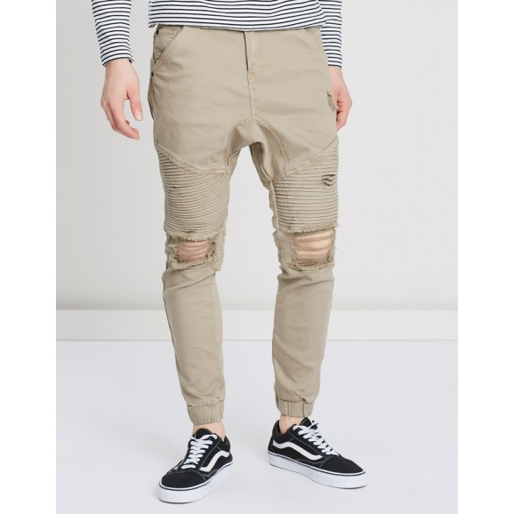 SILENT THEORY Outlaw Cuffed Mens Pant - Sand