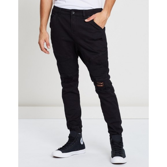 SILENT THEORY Outlaw Cuffed Mens Pant - Wrecked Black