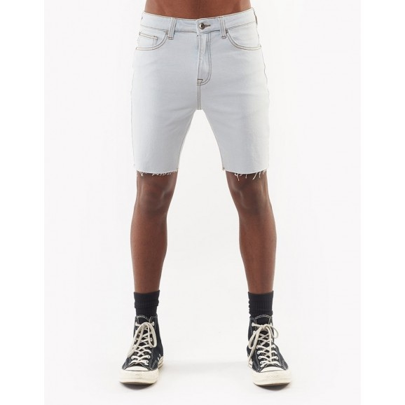 SILENT THEORY Shadow Raw Mens Shorts - Bleached Blue