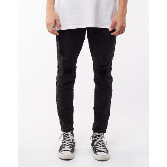 SILENT THEORY Soho Mens Jean - Trashed Black