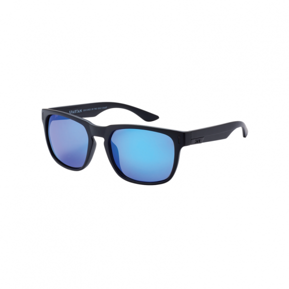 SIN Spartan Polarised Sunglasses - Matt Raven/Blue Flash