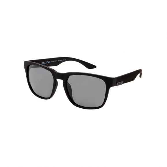 SIN Spartan Polarised Sunglasses - Rubber Raven/Smoke