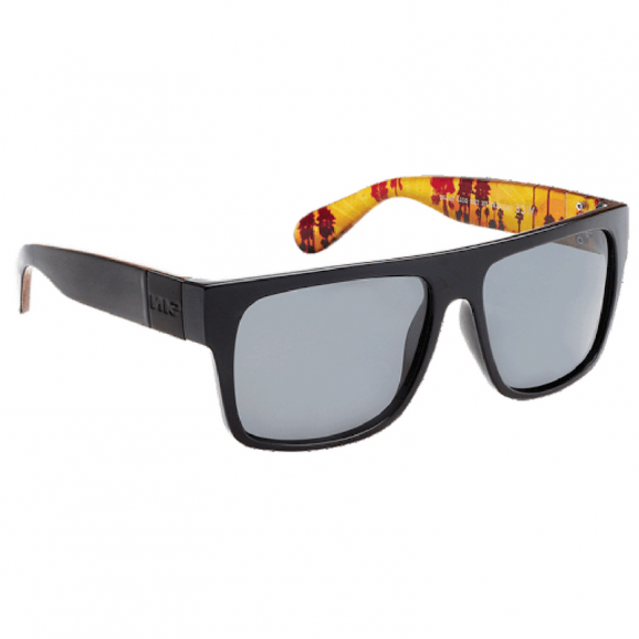 SIN Vice Polarised Sunglasses - Raven Palm Print/Smoke