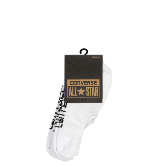 CONVERSE Invisible 3pk Socks - White